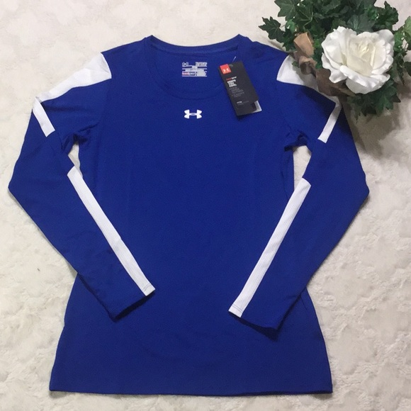 under armour long sleeve blue heat gear size medium new with tag nwt